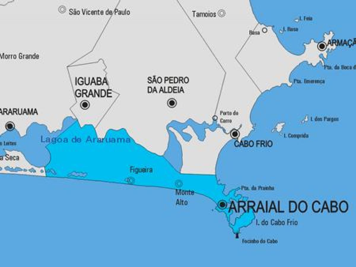 Mapa de Arraial do Cabo municipio