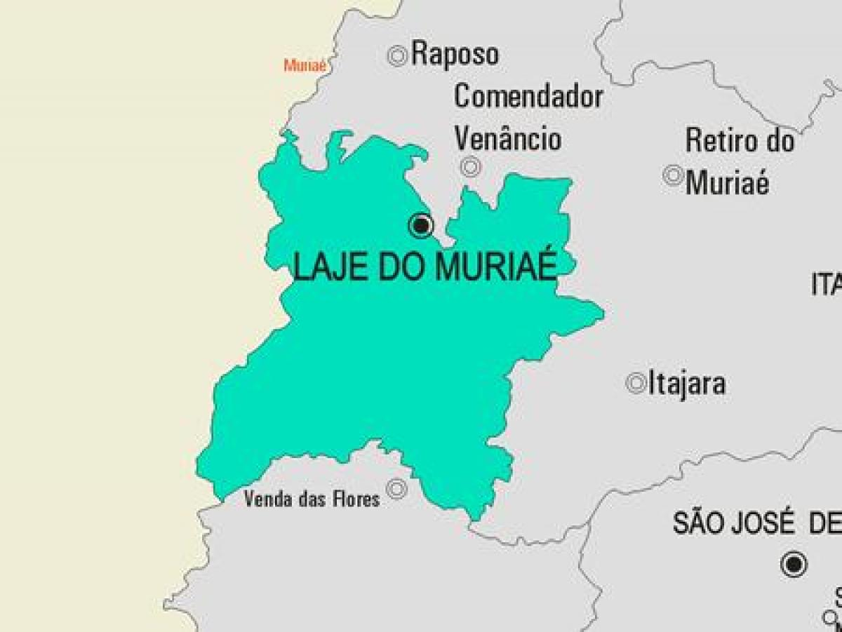 Mapa de Laje do Muriaé municipio