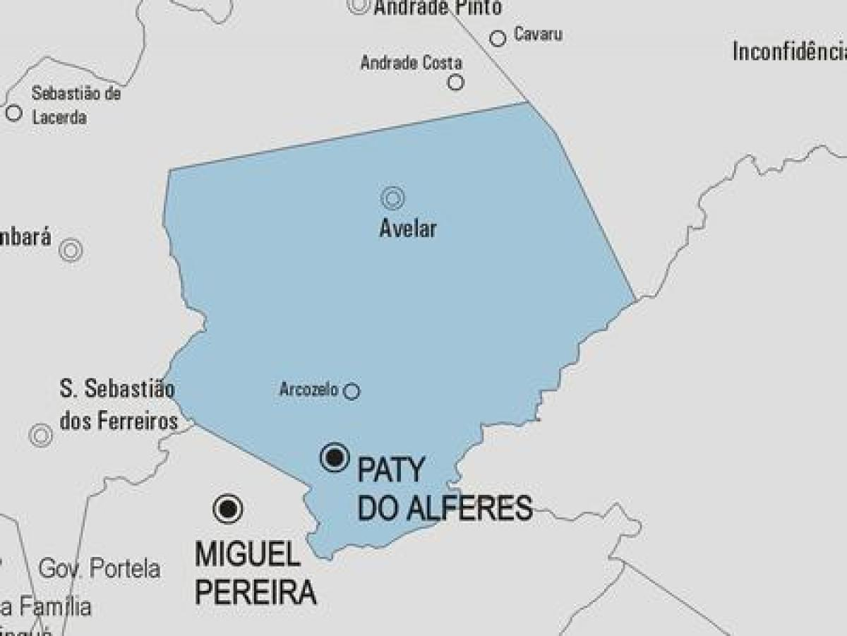 Mapa de Paty do Alferes municipio